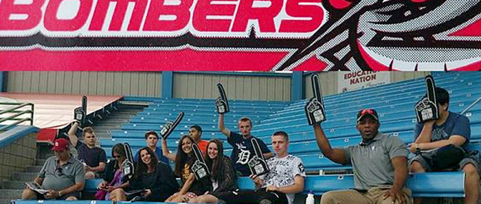 west michigan virtual academy middle school students attend a battle creek bombers baseball game