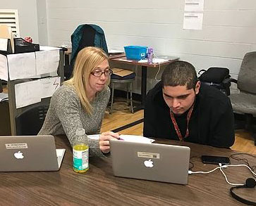 tutor at west michigan virtual academy helps student with coursework